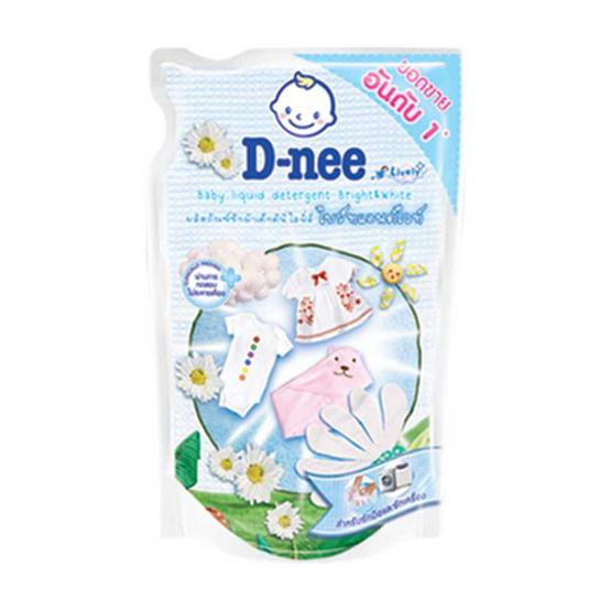 D-nee ผลิตภัณฑ์ซักผ้าเด็ก ไลฟ์ลี่ ไบร์ทแอนด์ไวท์ สีขาว 600 มล.