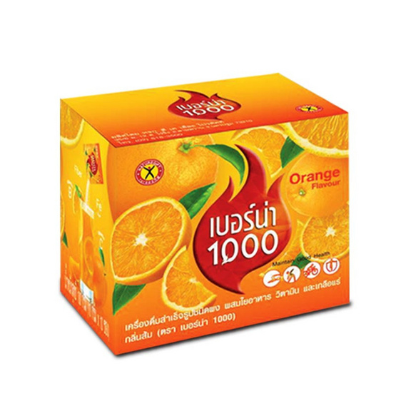 เนเจอร์กิฟ เบอร์น่า 1000 รสส้ม 10 กรัม x 10 ซอง