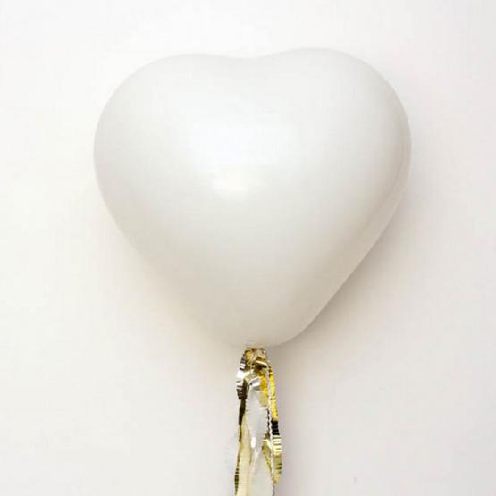 ลูกโป่งหัวใจ 10 นิ้ว 30 ลูก (สีขาว)