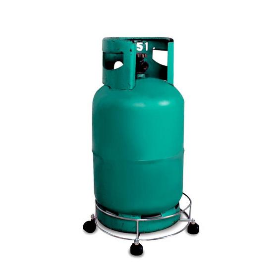 ที่รองถังแก๊สเหล็ก ชุบโครเมี่ยมมีล้อ