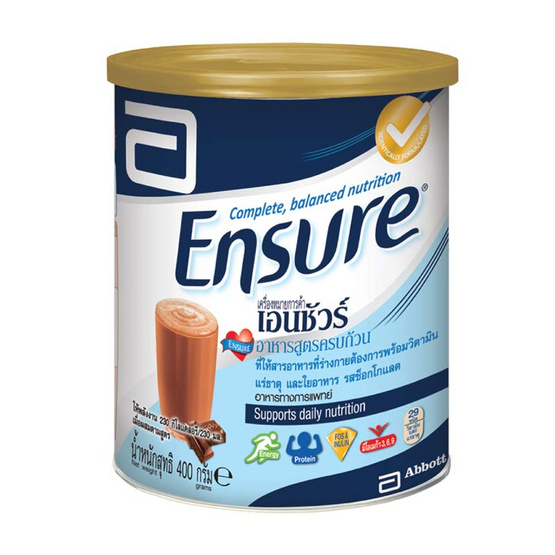 อาหารสูตรครบถ้วนเอนชัวร์กลิ่นช็อกโกแลต 400 กรัม