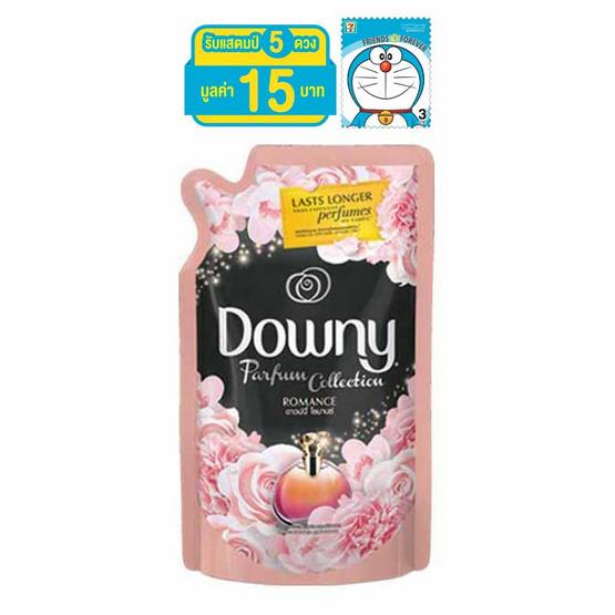 Downy น้ำยาปรับผ้านุ่ม กลิ่นโรแมนซ์ 580 มล. ถุงเติม สีชมพูดำ