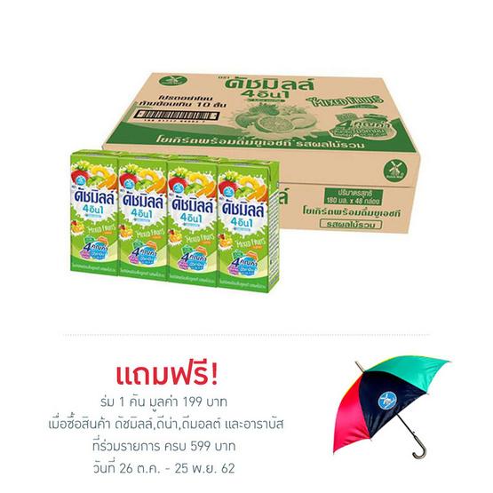 ดัชมิลล์ นมเปรี้ยว รสผลไม้รวม 180 มล. (ยกลัง 48 กล่อง)