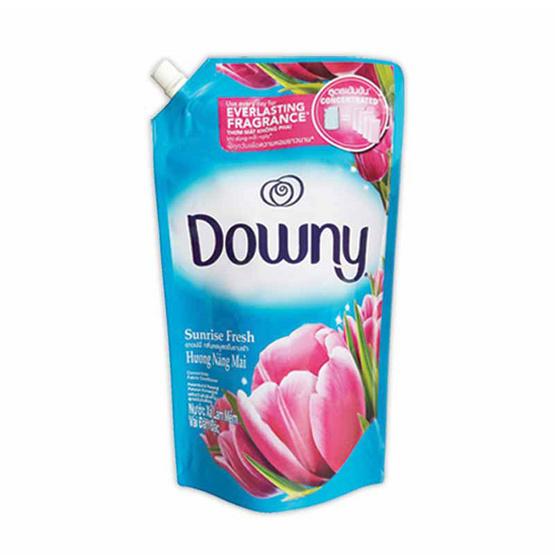 Downy น้ำยาปรับผ้านุ่ม กลิ่นซันไรซ์ เฟรช 1,600 มล. ถุงเติม สีฟ้า