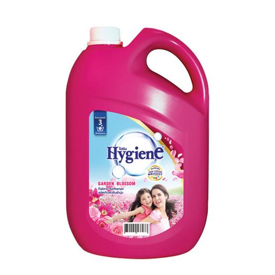 ไฮยีน ผลิตภัณฑ์ปรับผ้านุ่ม กลิ่นการ์เดน บลอสซั่ม 3,500 มล. สีบานเย็น