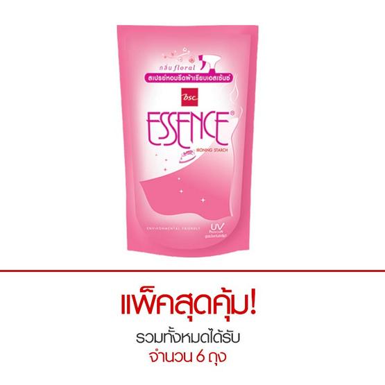 Essence น้ำยารีดผ้าเรียบ กลิ่นฟลอรัล สีชมพู 600 มล. (แพ็ก 3 ถุง)