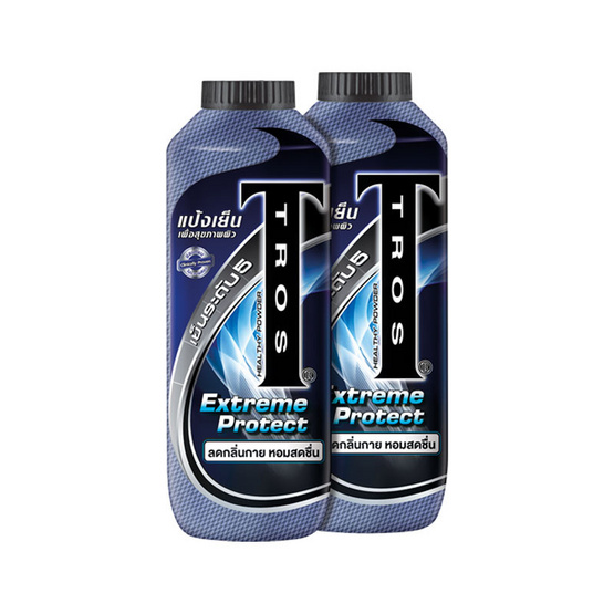 TROS เอ็กซ์ตรีม โพรเทค แป้งเย็น สีน้ำเงิน 280 กรัม