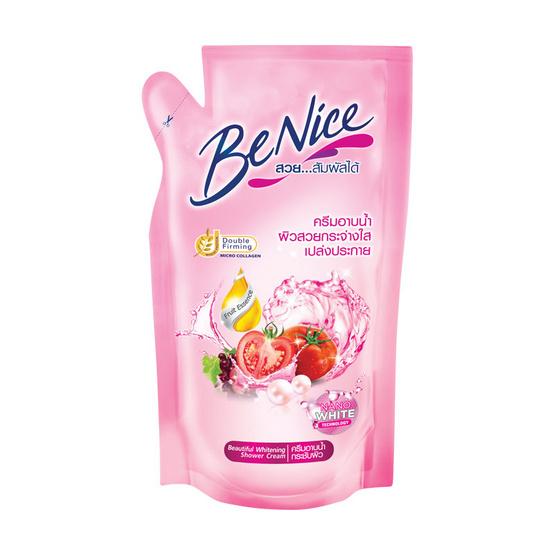 Be Nice ครีมอาบน้ำ 400 มล. สีชมพู ถุงเติม