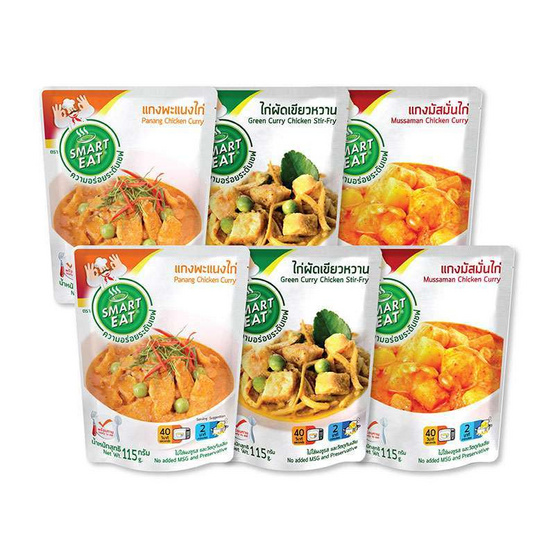 สมาร์ทอีท อาหารไทยพร้อมทาน 6 ซอง (คละรสชาติ)