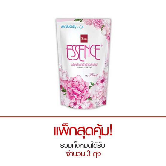 Essence ผลิตภัณฑ์ซักผ้าชนิดน้ำ กลิ่นฟลอรัล 400 มล. สีชมพู