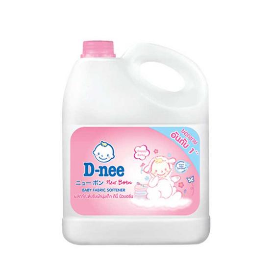 D-nee ผลิตภัณฑ์ปรับผ้านุ่มเด็ก แบบแกลลอน 3,000 มล. สีชมพู