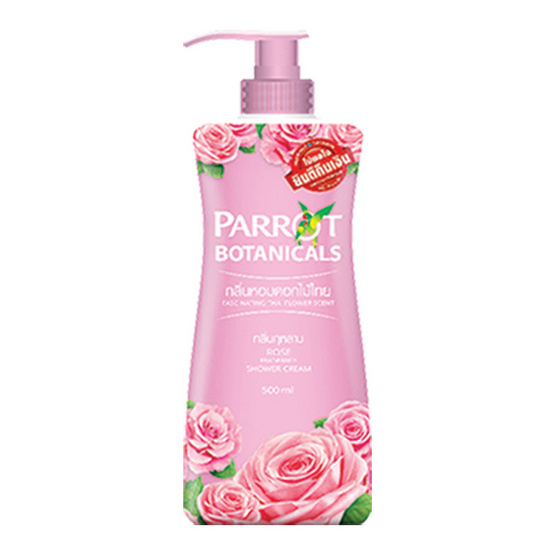 แพรอท ครีมอาบน้ำ กลิ่นกุหลาบ 500 มล. สีชมพู ของแถมไม่มีหัวปั๊ม