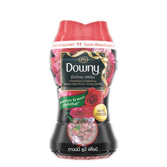 Downy เพิ่มกลิ่นหอม รูบี้ พีโอนี เม็ดน้ำหอม พรีเมี่ยม สีแดง 150 มล.