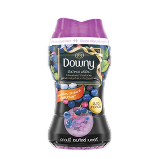 Downy เพิ่มกลิ่นหอม อเมทิตส์ เบอร์รี่ เม็ดน้ำหอม พรีเมี่ยม สีม่วง 150 มล.