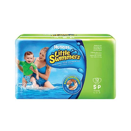 ฮักกี้ส์ กางเกงผ้าอ้อม สำหรับว่ายน้ำ ไซส์ S 12 ชิ้น
