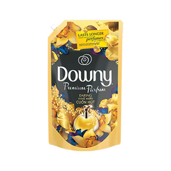 Downy น้ำยาปรับผ้านุ่ม กลิ่นแดร์ริ่ง 1,400 มล. ถุงเติม สีทองดำ