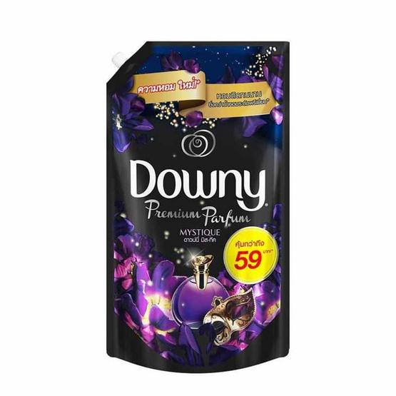 Downy น้ำยาปรับผ้านุ่ม กลิ่นมิสทิค 1,400 มล. ถุงเติม สีม่วงดำ