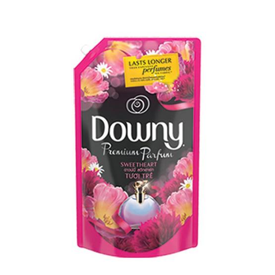Downy น้ำยาปรับผ้านุ่ม กลิ่นสวีทฮาร์ท 1,400 มล. ถุงเติม สีชมพูเข้ม