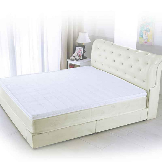 PJ ที่นอนท็อปเปอร์ยางพารา 100% ขนาด 3.5 ฟุต หนา 2 นิ้ว คละลาย