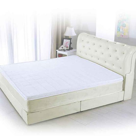 PJ ที่นอนท็อปเปอร์ยางพารา 100% ขนาด 5 ฟุต หนา 2 นิ้ว คละลาย