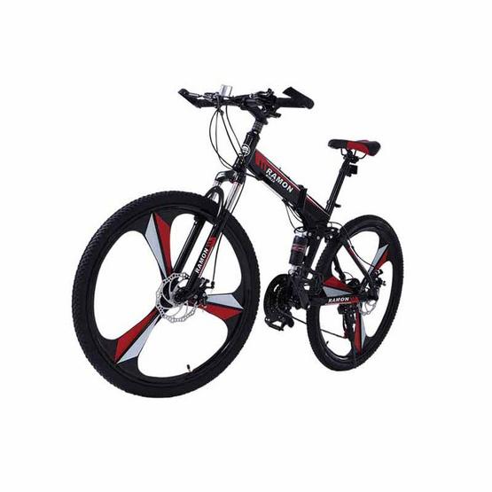 RAMON จักรยานเสือภูเขา เอ็กซ์ตรีม พับได้ 26 นิ้ว สีดำ