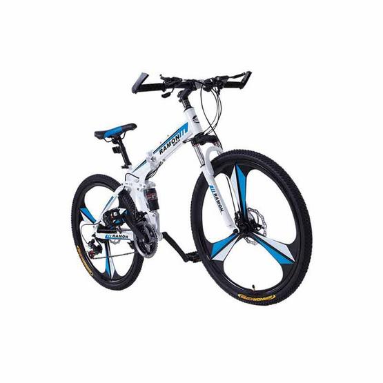 RAMON จักรยานเสือภูเขา เอ็กซ์ตรีม พับได้ 26 นิ้ว สีขาว