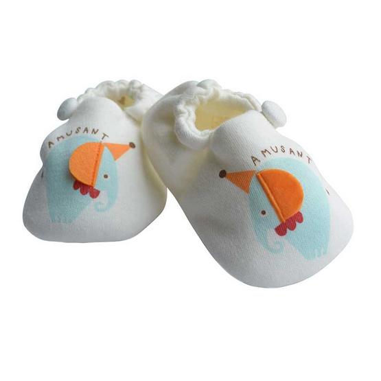 AMUSANT ถุงเท้าเด็ก ลายช้าง สีครีม (Free Size)