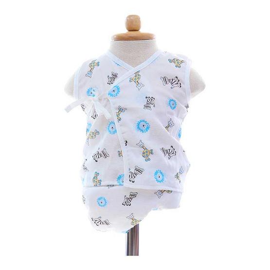 Shawn's Baby เสื้อแขนกุดพร้อมกางเกงผ้าอ้อม ลายการ์ตูนสัตว์ป่า