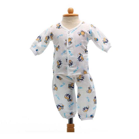 Shawn's Baby เสื้อแขนยาวพร้อมกางเกงขายาว ลายการ์ตูนรูปผึ้ง