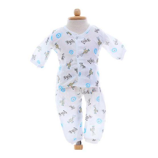 Shawn's Baby เสื้อแขนยาวพร้อมกางเกงขายาว ลายการ์ตูนสัตว์ป่า