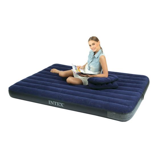 INTEX ที่นอนเป่าลมแบบใช้ที่สูบลม 4.5 ฟุต