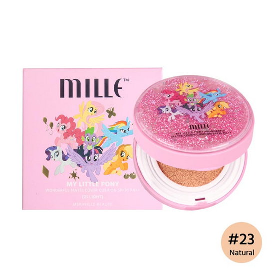 Mille My Little Pony Wonderful Matte Cover Cushion Spf 30 PA++ #23 Natural