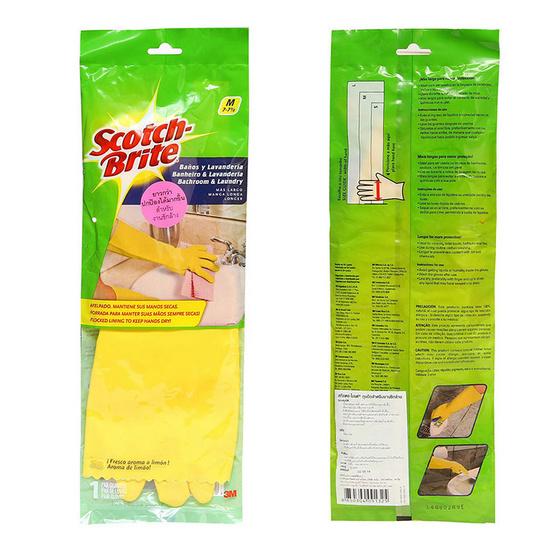 Scotch-Brite สก๊อตช์-ไบรต์ ถุงมือสาหรับงานซักล้าง