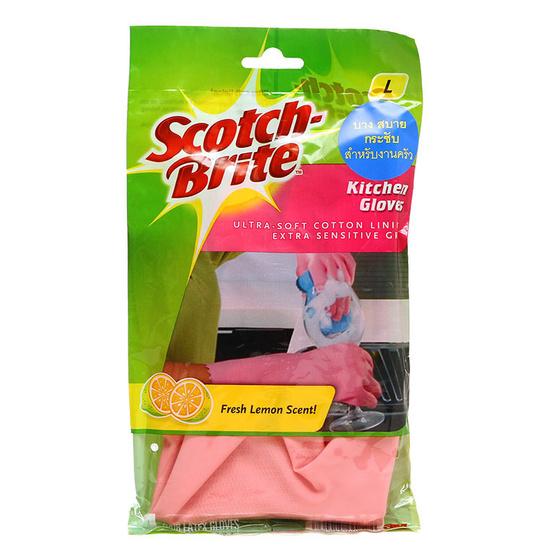 Scotch-Brite สก๊อตช์-ไบรต์ ถุงมือสำหรับงานครัว