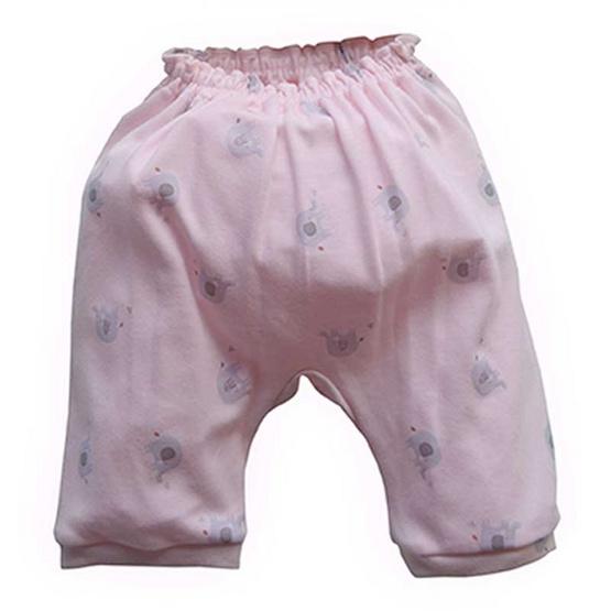 Amusant ชุดเสื้อกางเกงแบบผูก สีชมพู