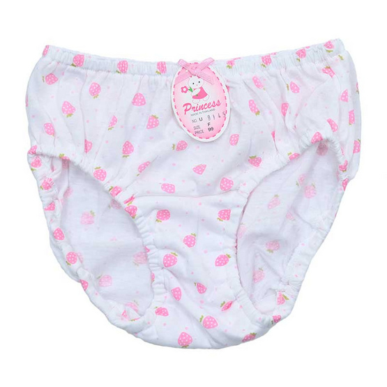 Princess Bra กางเกงชั้นในเด็กยางสอดพิมพ์ลายสตอเบอรี่จุด คละสี แพ็ค 3