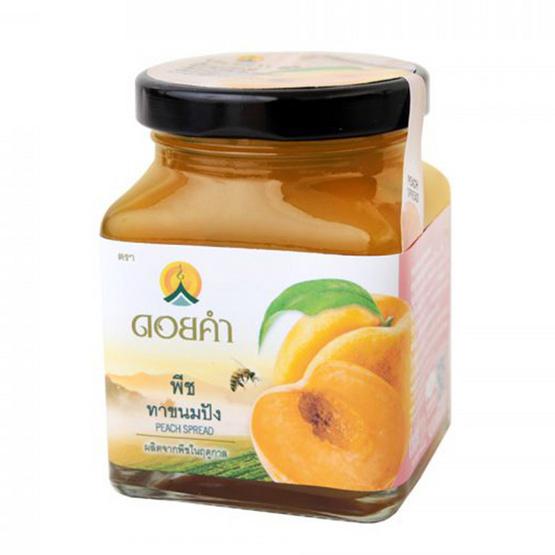 ดอยคำ พีชทาขนมปัง 220 กรัม (ยกลัง 12 กระปุก)