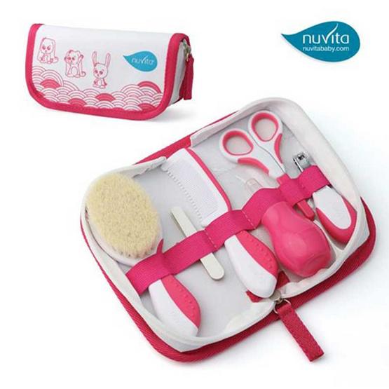 Nuvita ชุดอุปกรณ์ดูแลลูกน้อยแบบพกพา สีชมพู