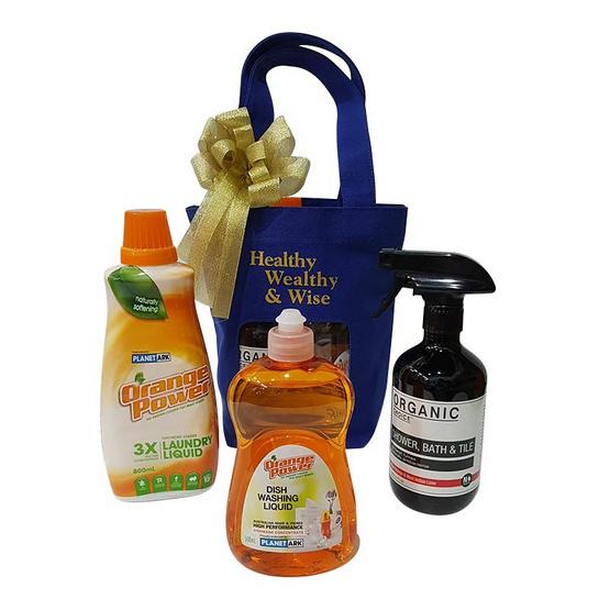 Orange Power & Organic Choice Christmas & New Year Gift Set Size S เซ็ตผลิตภัณฑ์ทำความสะอาด
