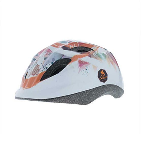 Saker หมวกกันน็อคเด็ก สีขาวลายการ์ตูน