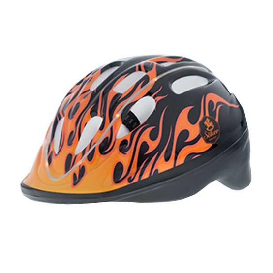 Saker หมวกกันน็อคเด็ก สีดำคาดส้ม มีไฟ LED