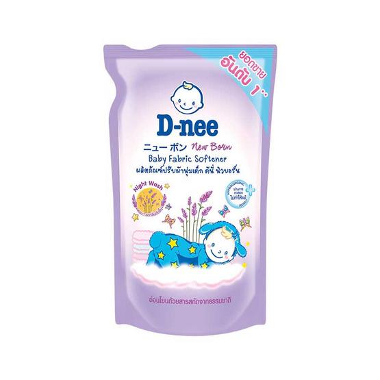 D-nee ปรับผ้านุ่มเด็ก 600 มล. ถุงเติม สีม่วง