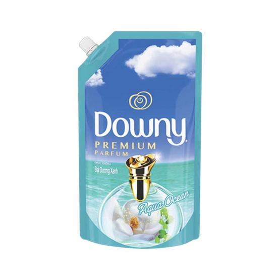 Downy ปรับผ้านุ่ม กลิ่นอควาโอเชี่ยน 1,300 มล. ถุงเติม สีฟ้า