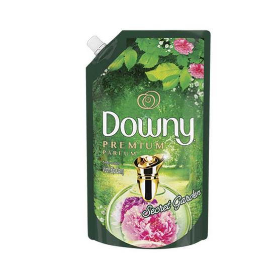 Downy ปรับผ้านุ่ม กลิ่นซีเคร็ทการ์เดน 1,300 มล. ถุงเติม สีเขียว