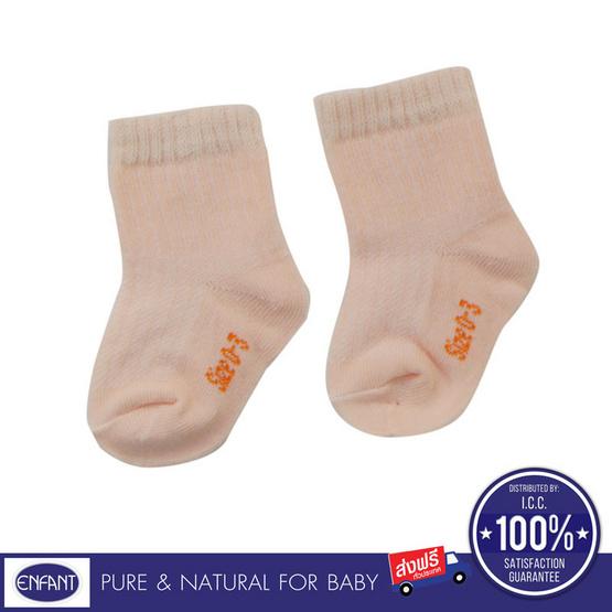 ENFANT ถุงเท้าเด็กอ่อน แพค 3 สีชมพู