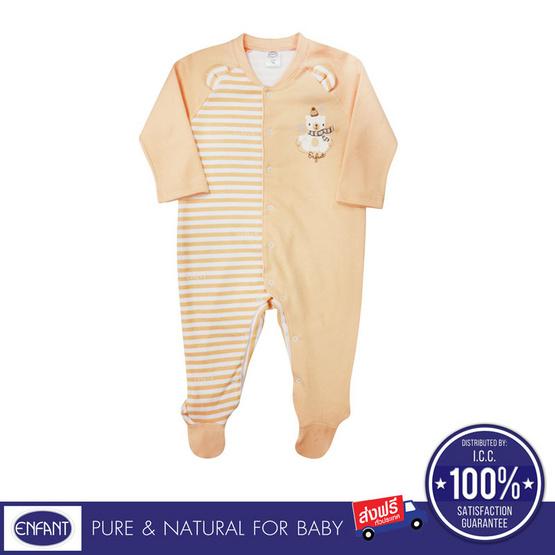 ENFANT ชุดหมีคลุมเท้า ชุดบอดี้สูท สีส้ม