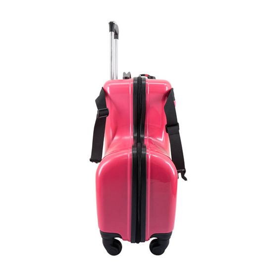 กระเป๋าเดินทางเด็ก ขนาด 20 นิ้ว สีชมพูเข้ม