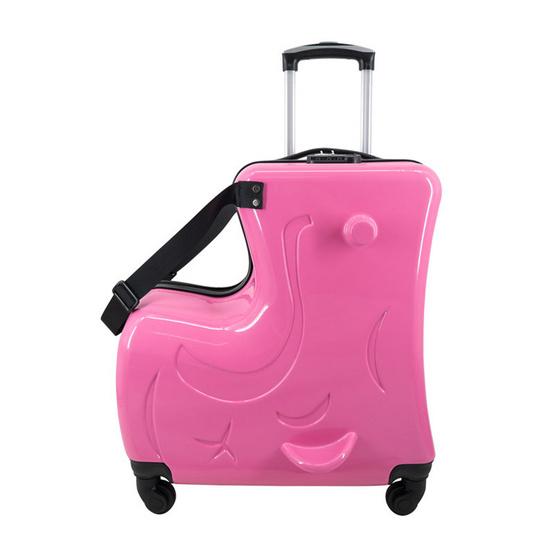 กระเป๋าเดินทางเด็ก ขนาด 20 นิ้ว สีชมพูอ่อน