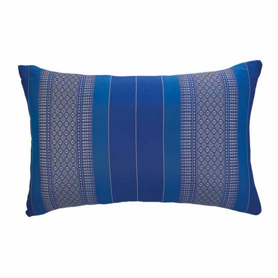 Coloris หมอนหนุนลายขิด 63 x 37 ซม. สีน้ำเงิน