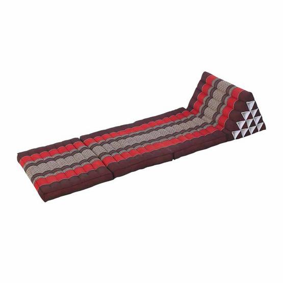 Coloris ที่นอนพร้อมหมอน 15 ช่อง 3 พับ ลายขิด สีแดง